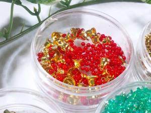 クリスマスリースストラップ材料