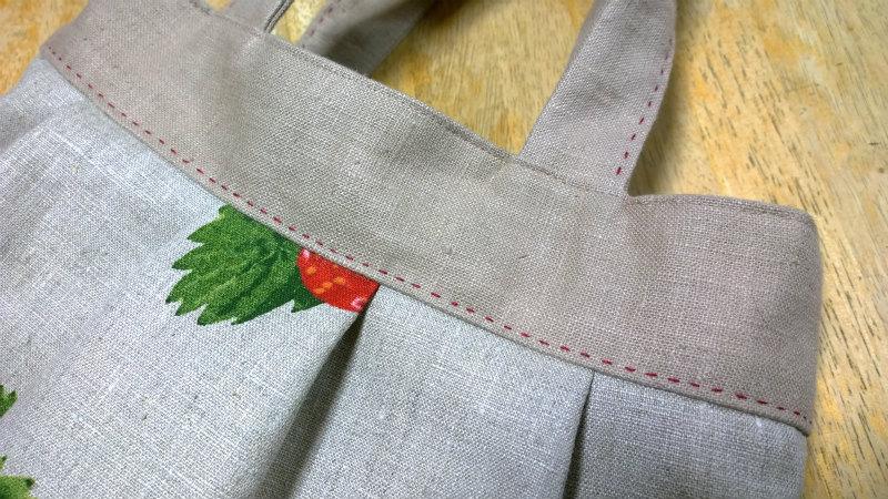 鎌倉スワニーの本掲載デザインバッグ●麻100%いちごのバッグ7
